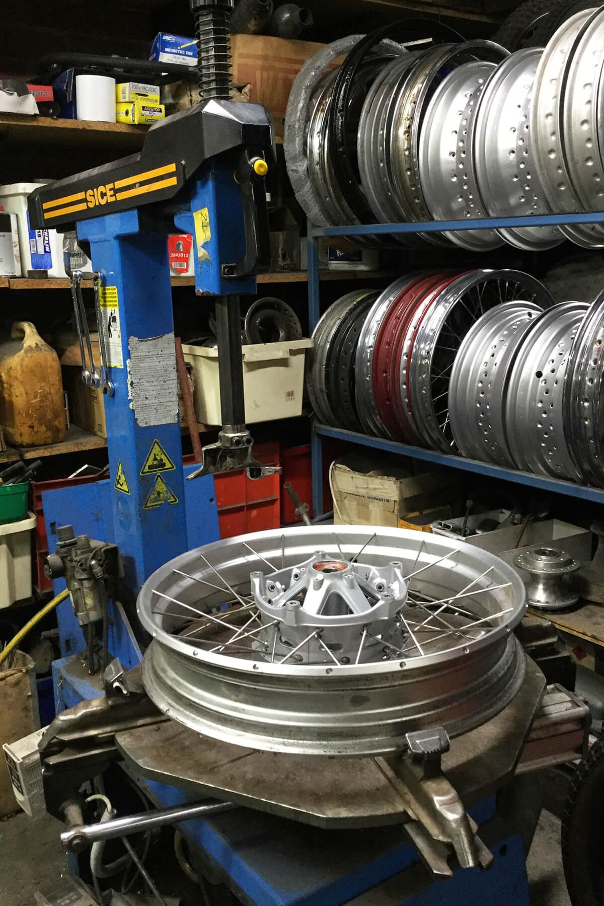 SICE, Italian made tyre changing machine.