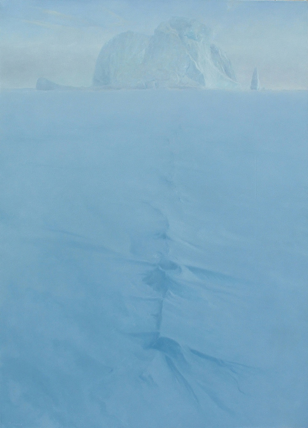 Trapped Berg,  152cm x 90cm, oil on canvas, 2004.