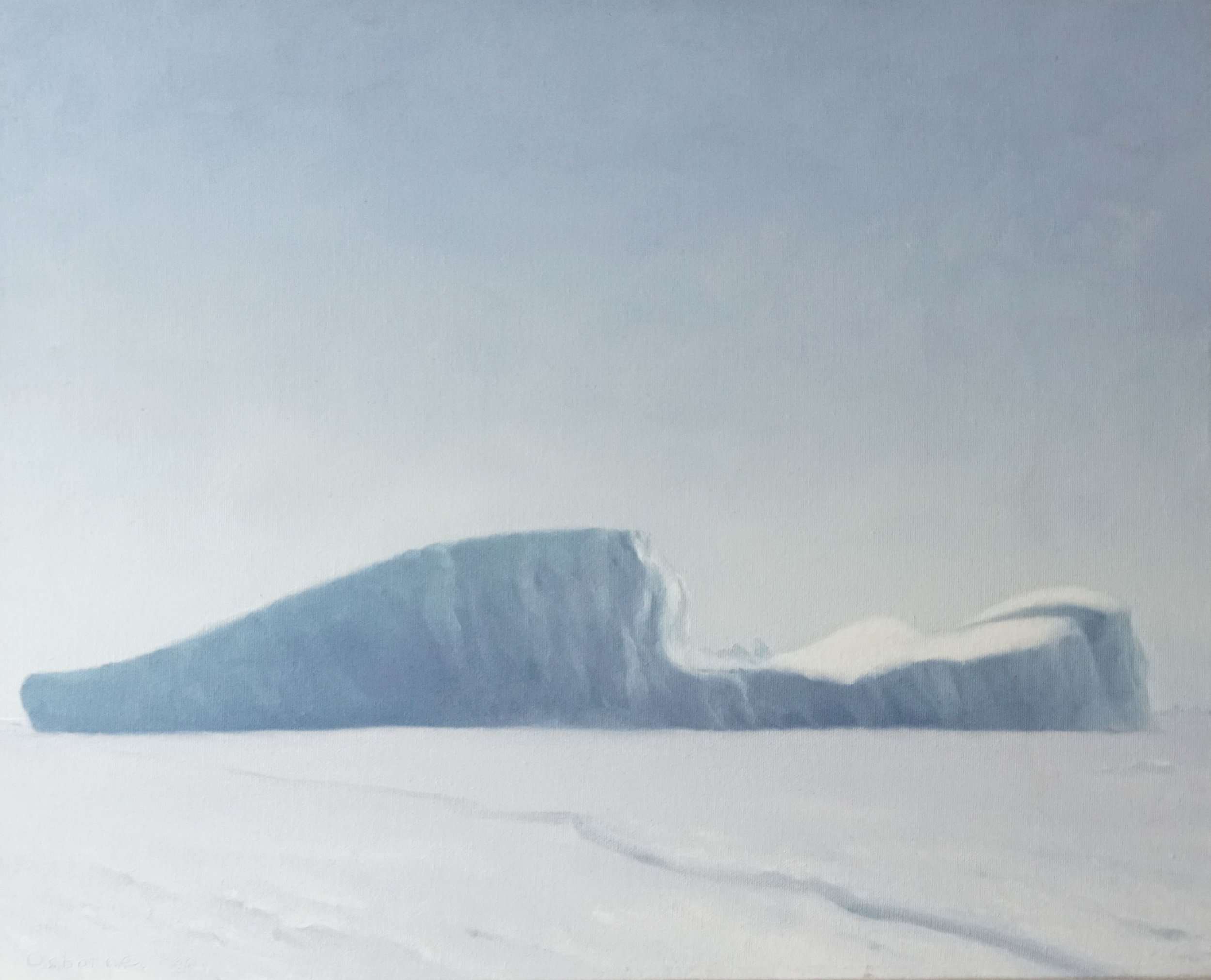 Piece of Ice Shelf , 46cm x 61cm, oil on canvas, 2006.