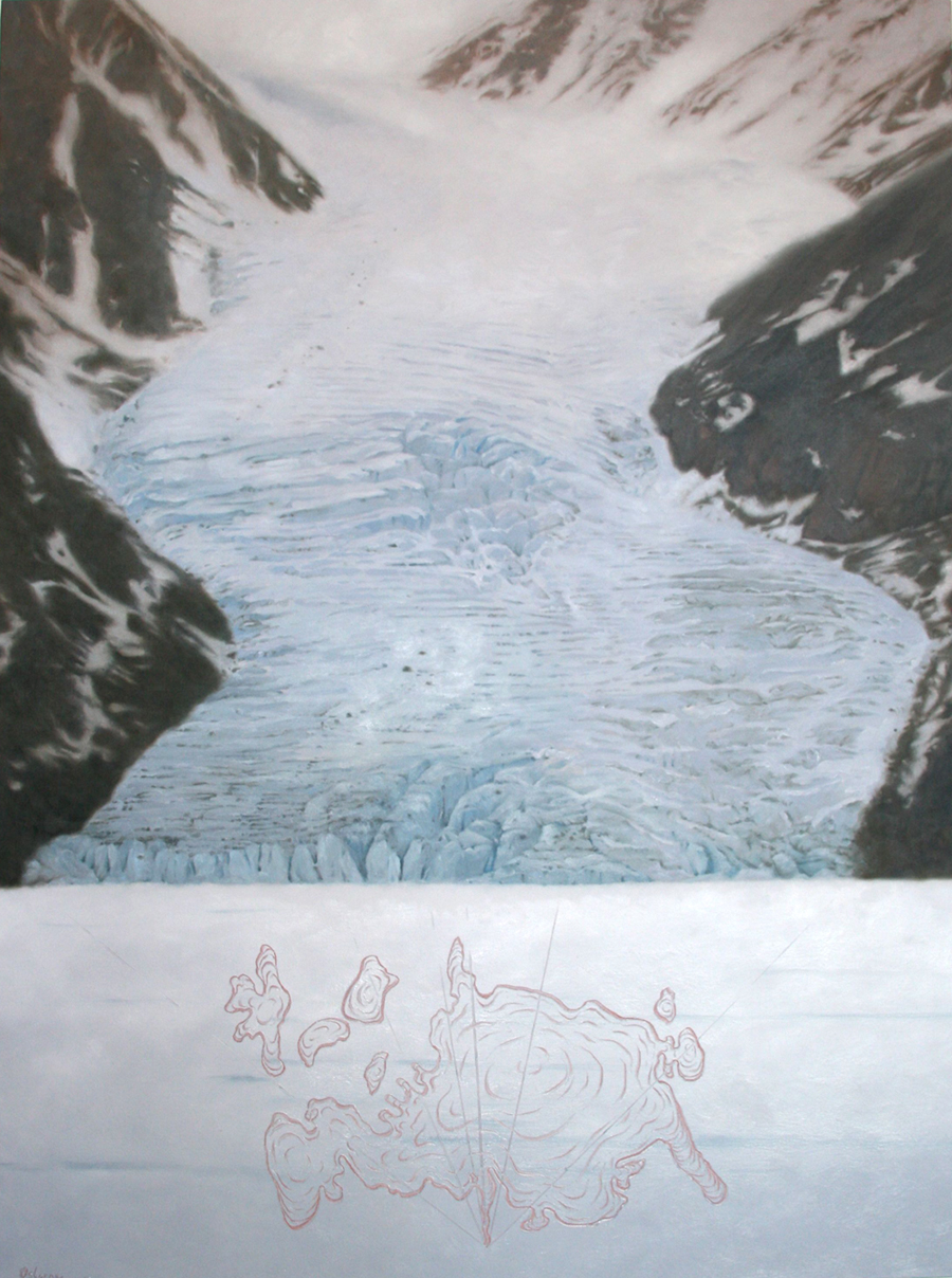 Dannys' Glacier, 122cm x 91cm,  oil on canvas, 2011.