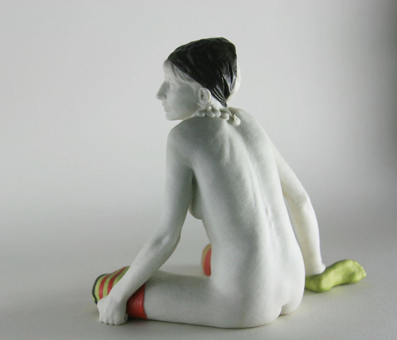 Jane Laurie Enamelled Porcelain. 17 x 20 x 12cms. 1973.