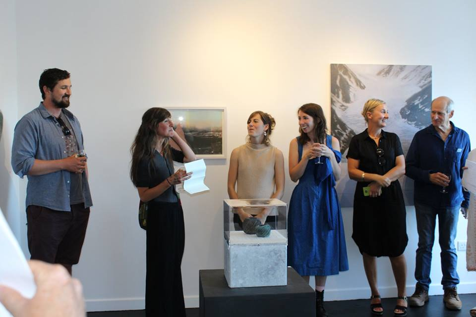 Sara Baume, author of 'A line made by walking' opens 'Site' exhibition at Doswell Gallery, 2018, and treats the artists to some of her new writing.