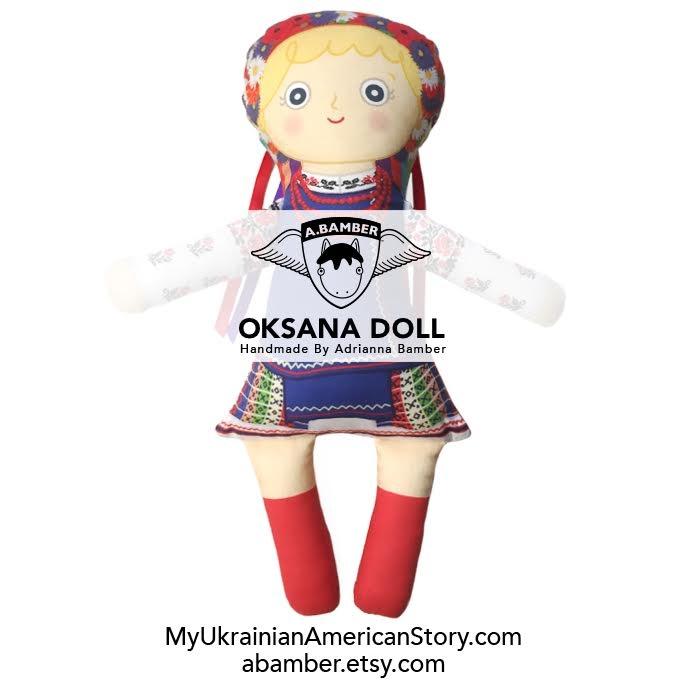 Handmade Ukrainian American Oksana Doll By Adrianna Bamber