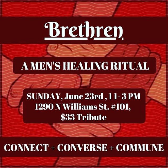 This one is an open Lunch!  Come get fed and dive into deep conversation with Men who are interested in healing, building community, and bettering themselves.  #Brethren