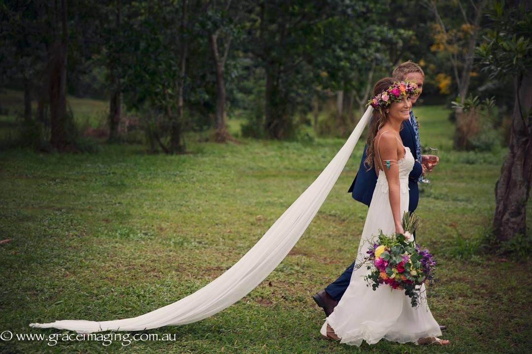 Real Bride Cara Castaways Mission Beach bohemian wedding - Makeup Artists Cairns