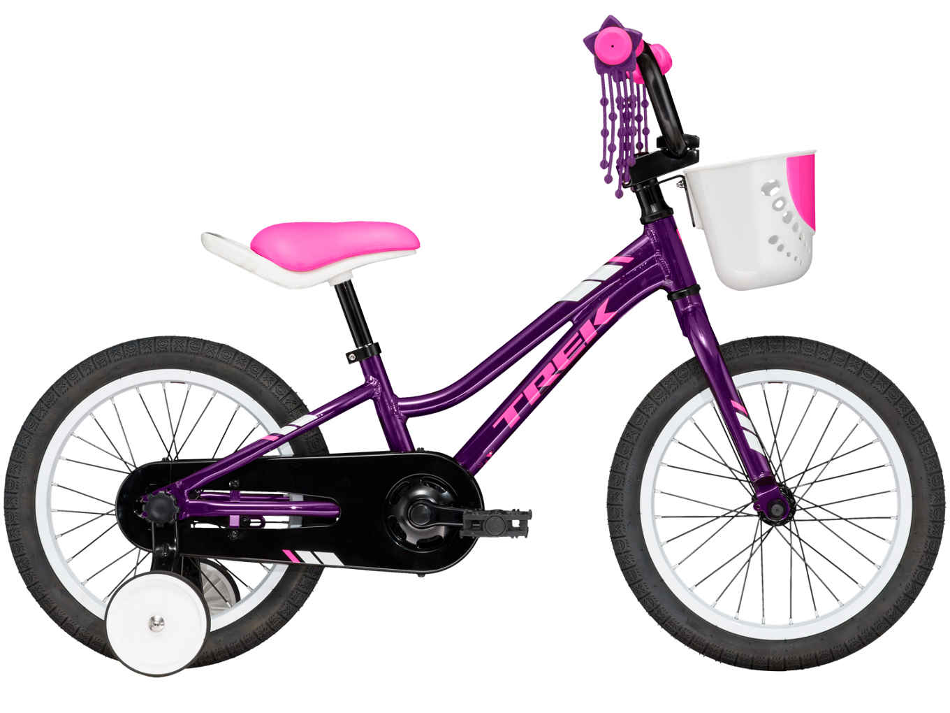 Teaching and learning to ride is a breeze with Precaliber 16 Girl's. It has a handle built into the saddle so you can guide while they ride, and tool-less training wheels that are super easy to install and remove. It's a great fit for kids ages 4-5 between 39-46˝ tall.