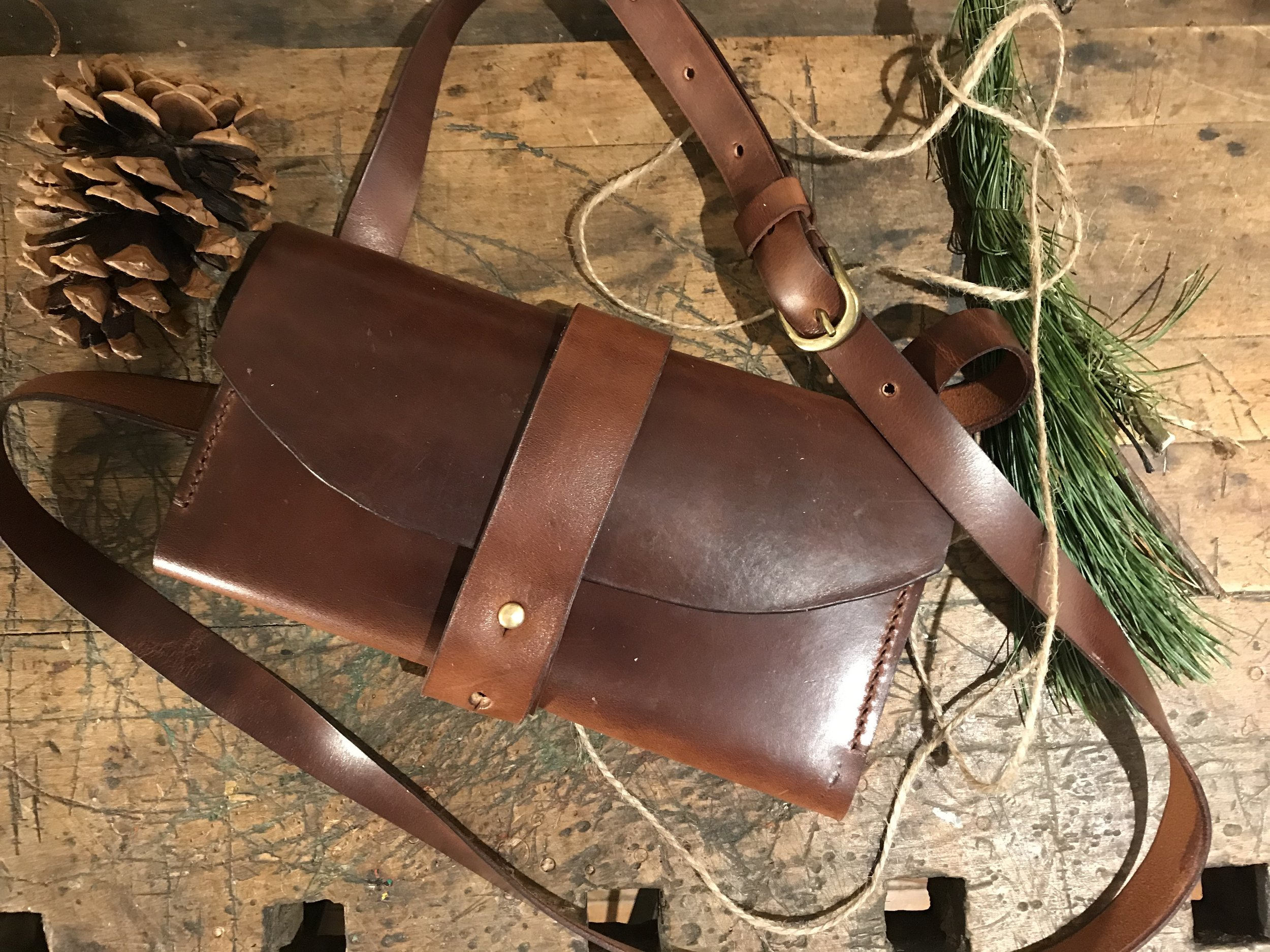 Handmade CrossBody Leather