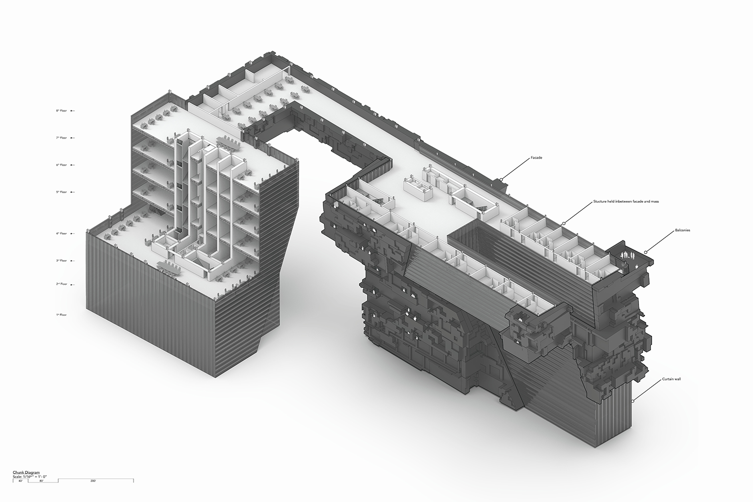Cut Chunk Axonometric