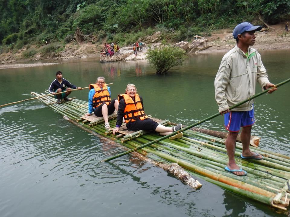 Laos Group C Griffith Somer Giraffe Bressan - bamboo river rafting 3.jpg