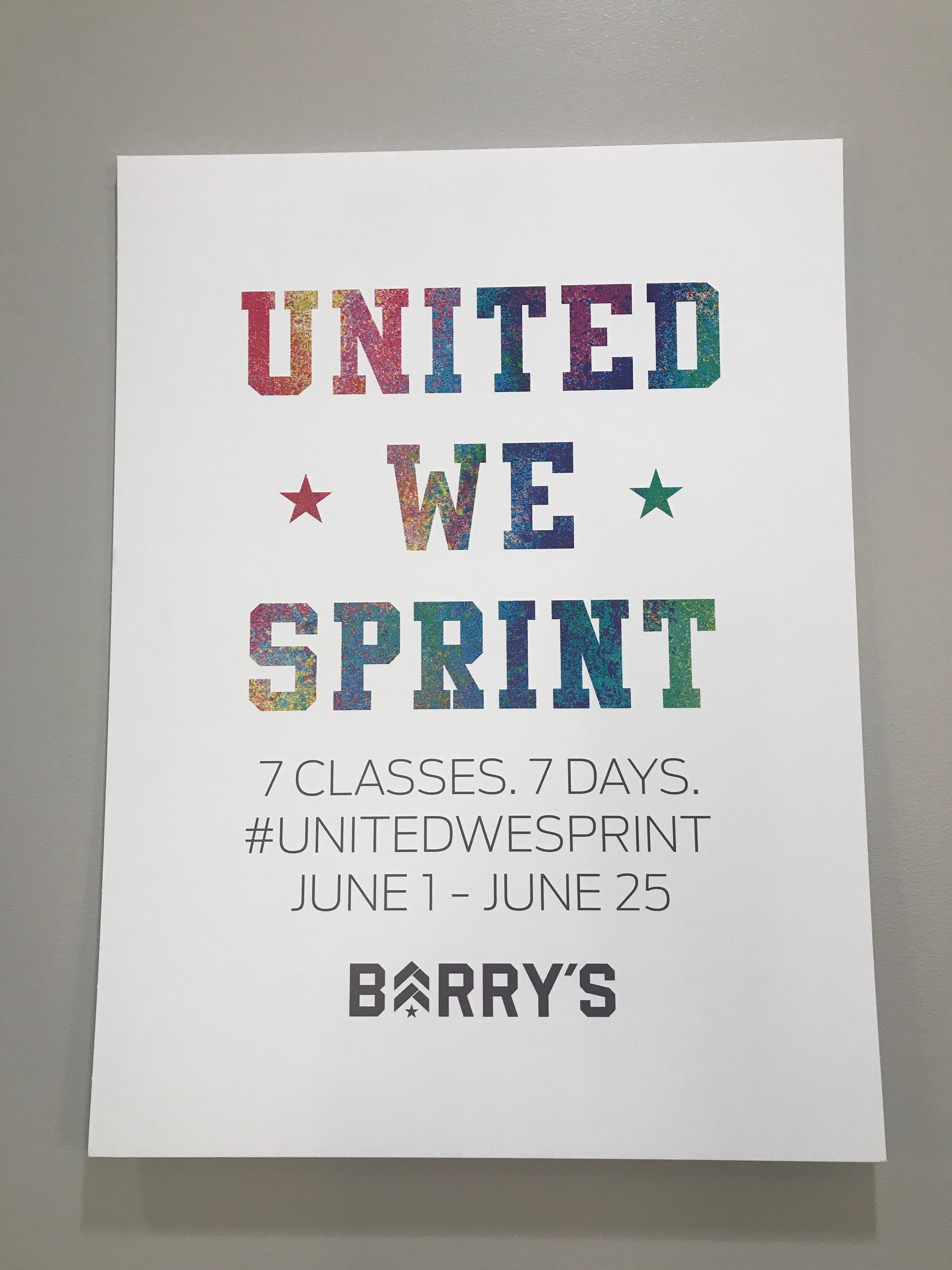 #UnitedWeSprint Poster - Photo Credits: Coffeeandfitness.com