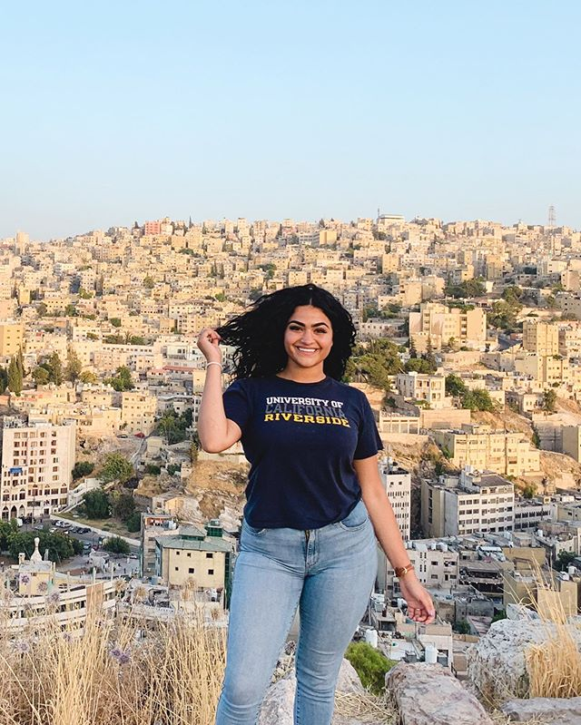 "Our next #UCRaroundtheworld feature is @biane.a! 🐫 ""Sometimes I feel like I've been away from home for too long. Coming back during the summer reminds me of my culture, my roots, and where my family came from. What I love the most about Jordan is that it's rooted in history, beauty, and a strong sense of culture. New countries always remind me that there are always new people that exist. That there's more ways to live and other ways to love. That tribes and cultures still walk together and this reminds you that we all came from a people who roamed. That we once lived in cultures that never stopped moving."" -Biane Abdulla ✨"