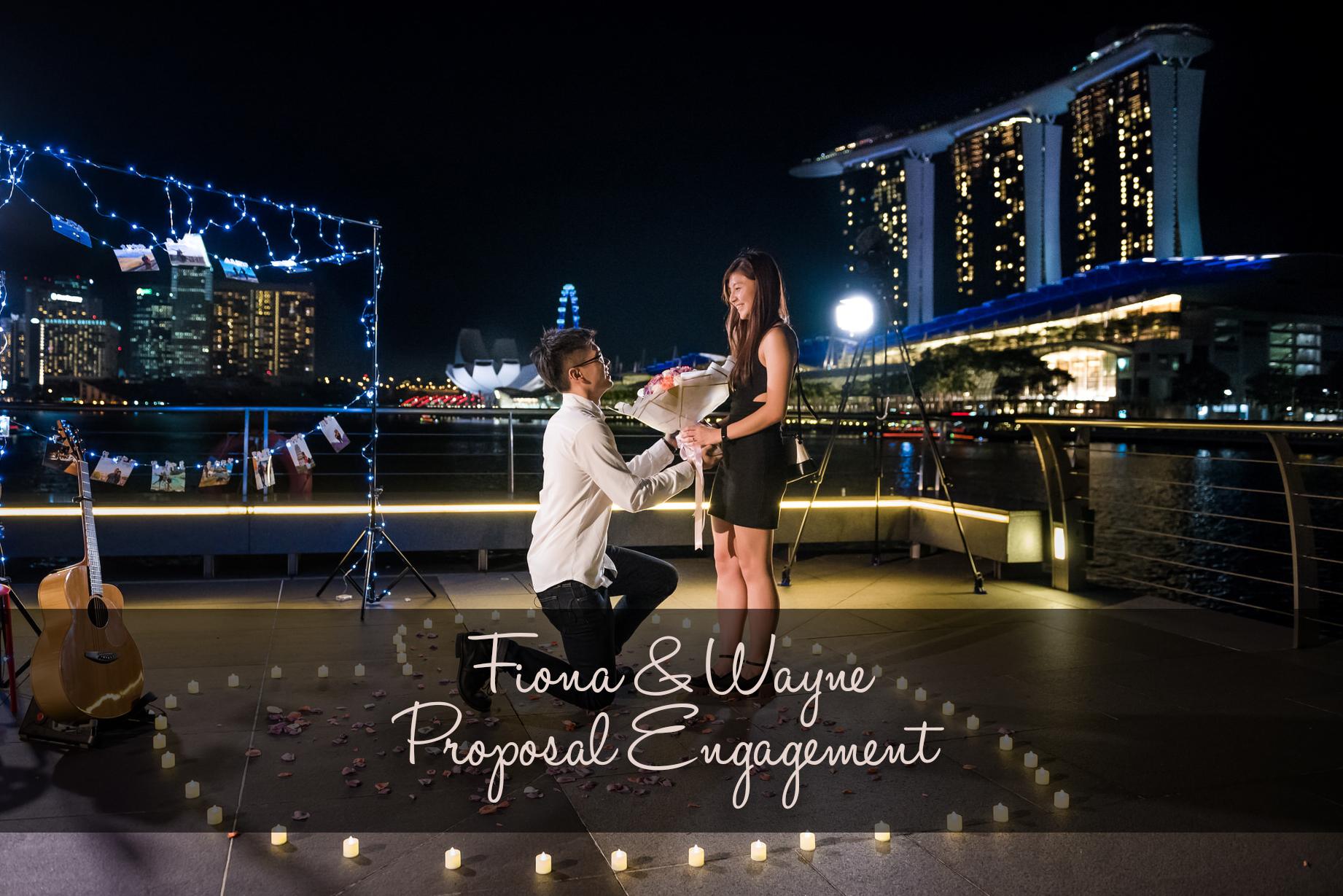 Proposal Engagement Marina Bay Sands Singapore