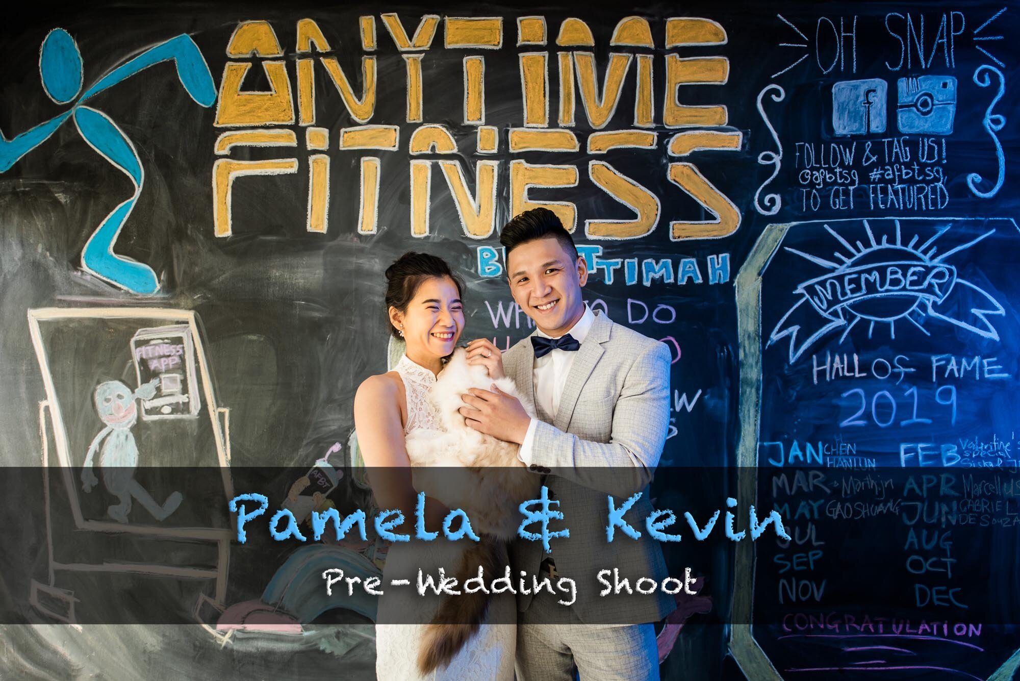 Singapore Pre-Wedding Photography Best Anytime Fitness Gym