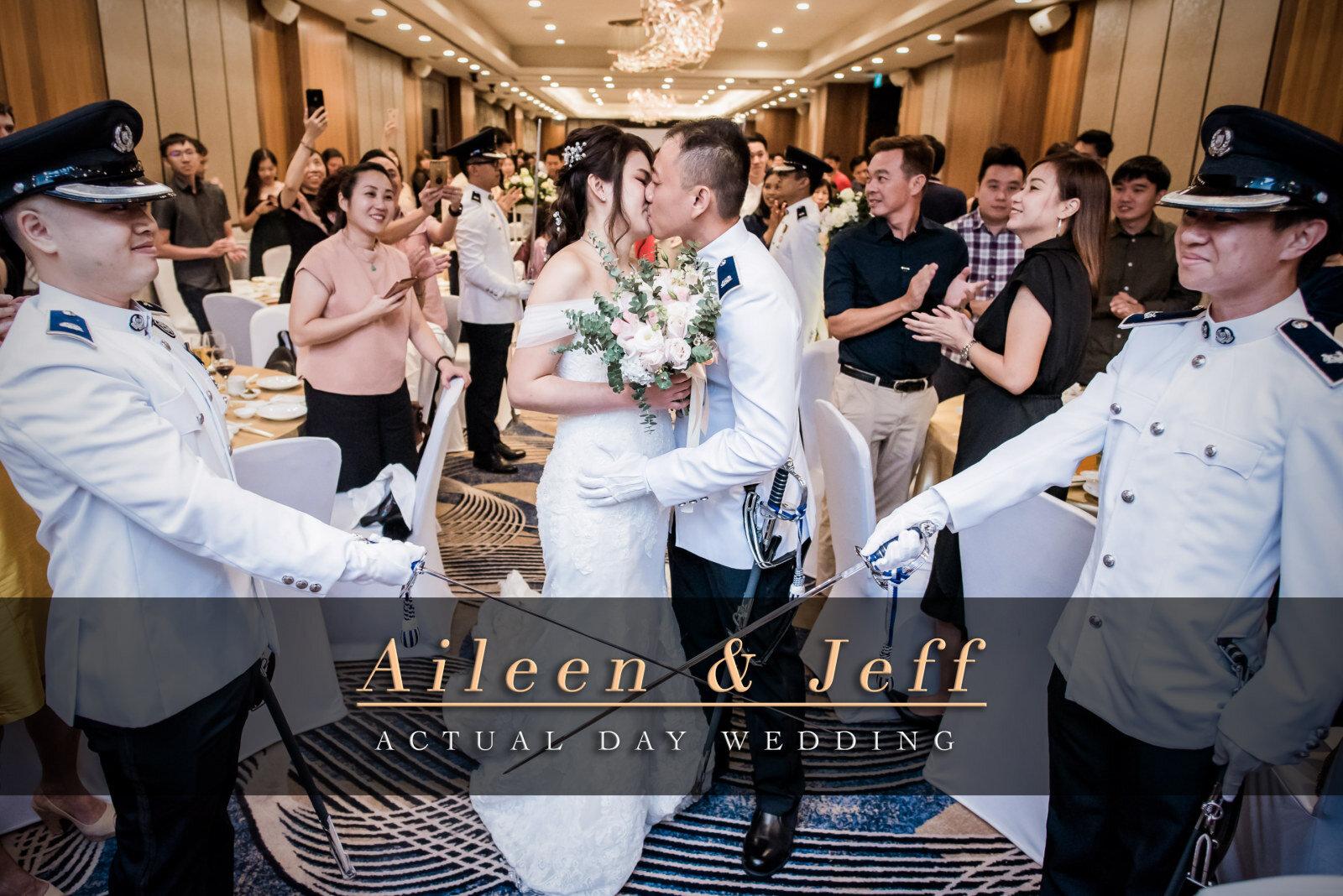 Singapore Sword Bearer Wedding In Uniform Hilton Hotel