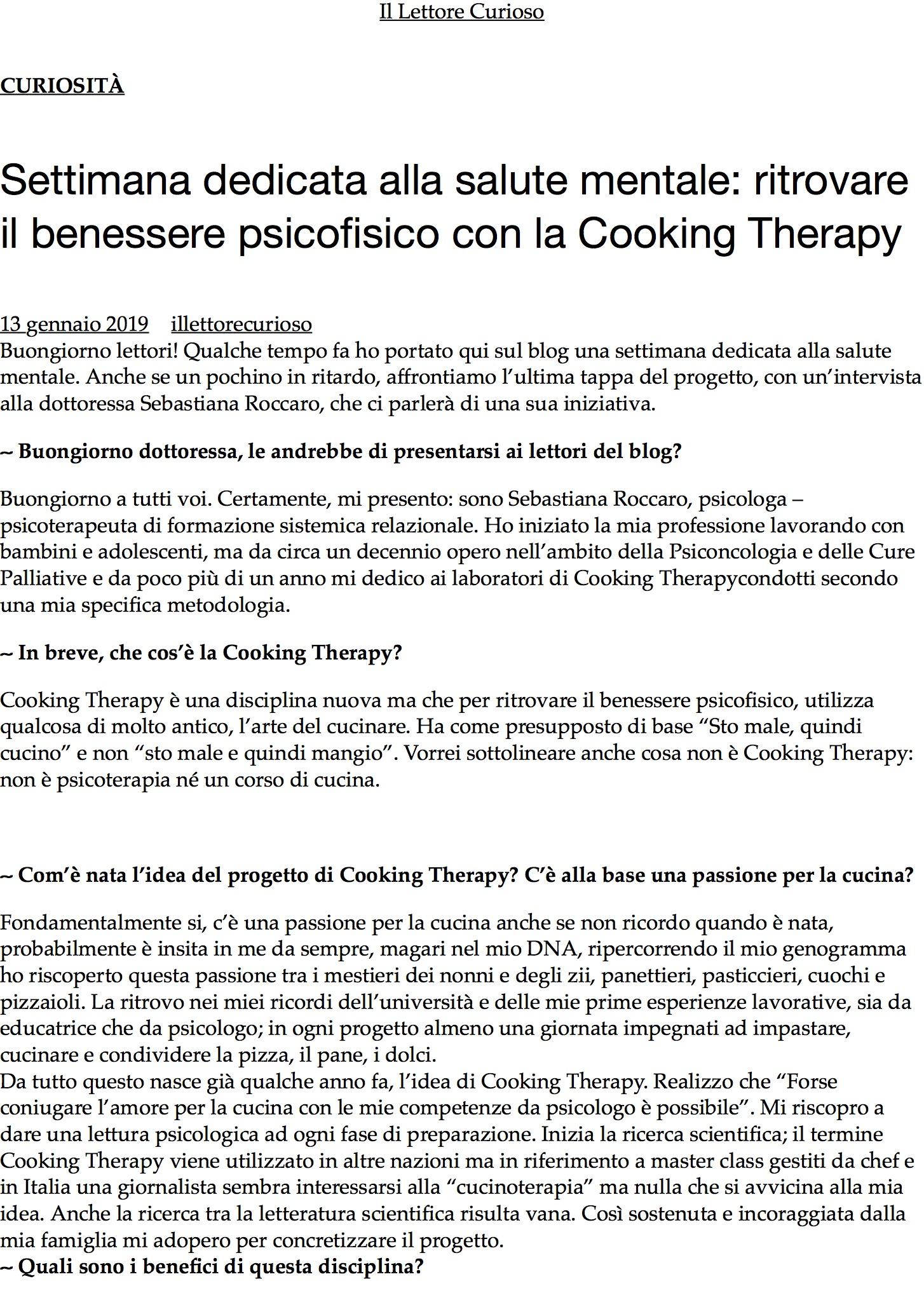 Settimana dedicata alla salute mentale: ritrovare il benessere psicofisico con la Cooking Therapy – .jpg