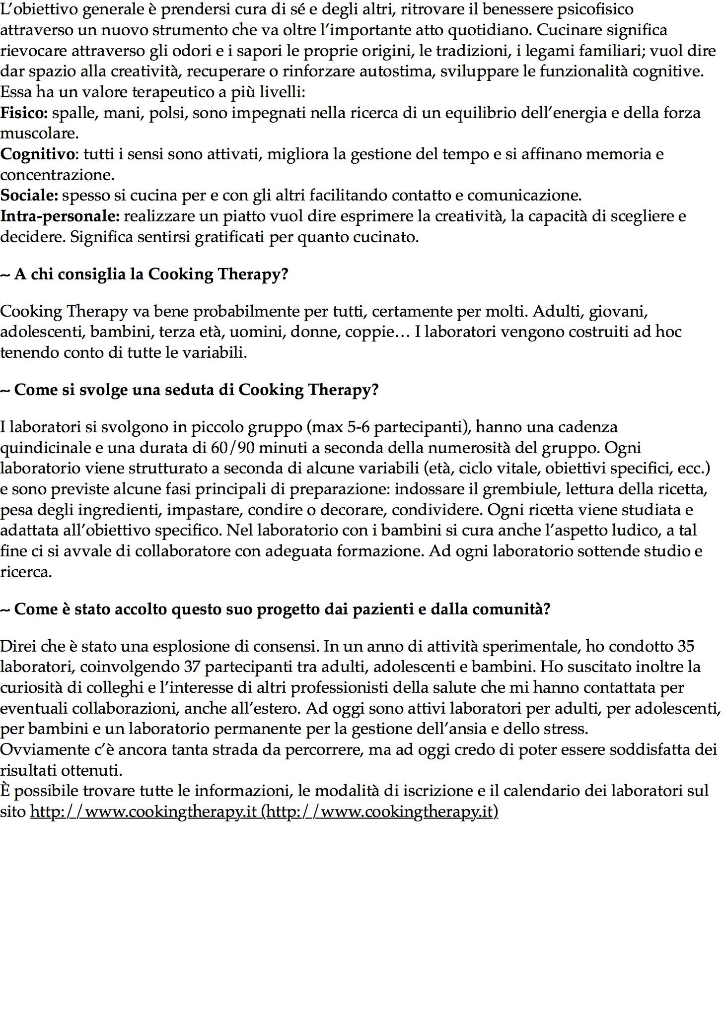 Settimana dedicata alla salute mentale: ritrovare il benessere psicofisico con la Cooking Therapy – 2.jpg