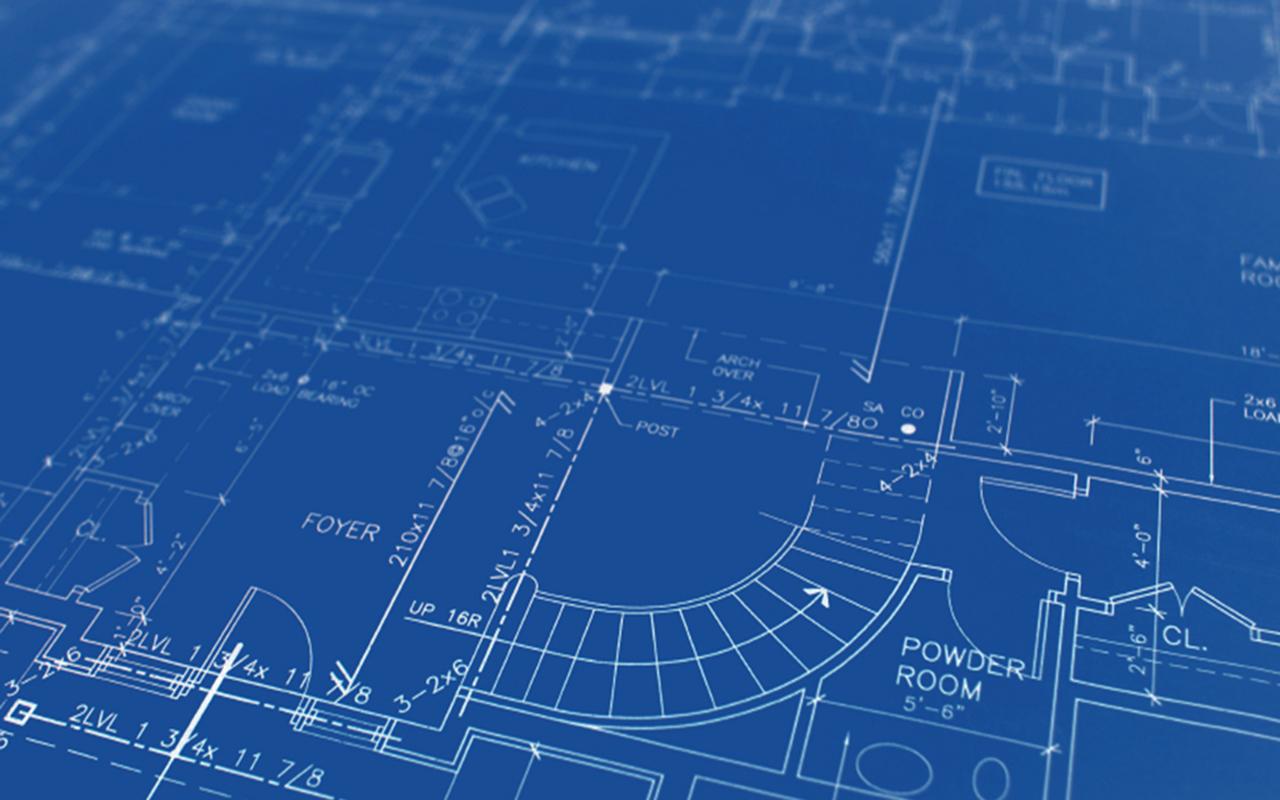 An architectural blueprint