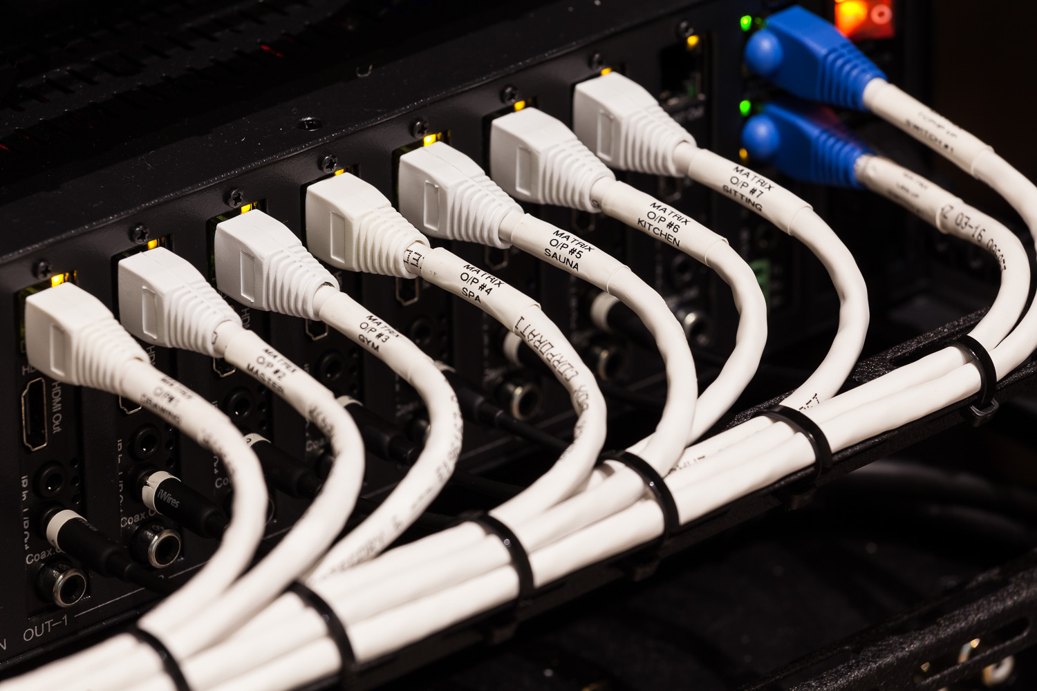 An example of our neat and tidy cabling