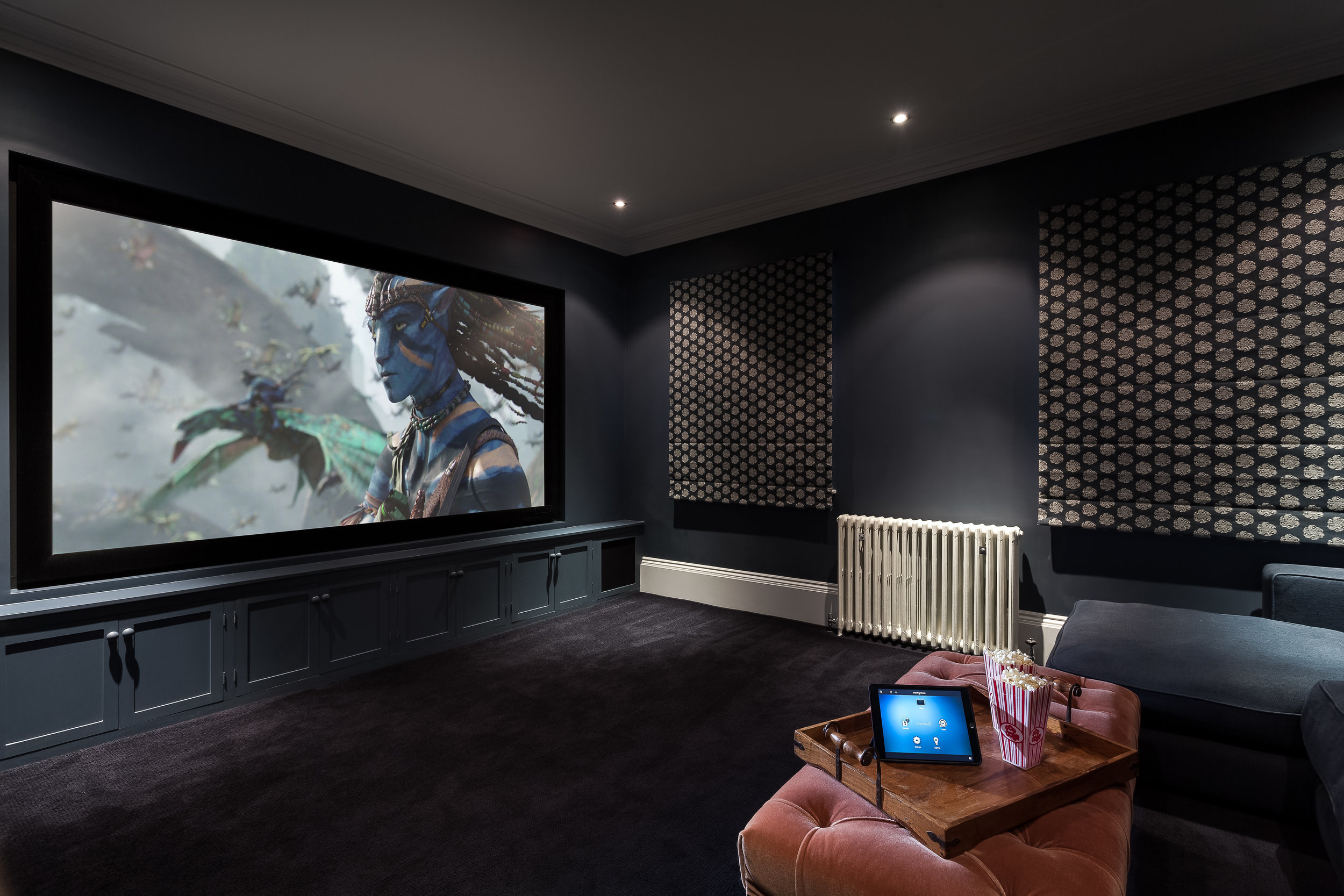 Country House, Middlesex - Cinema Room Overview