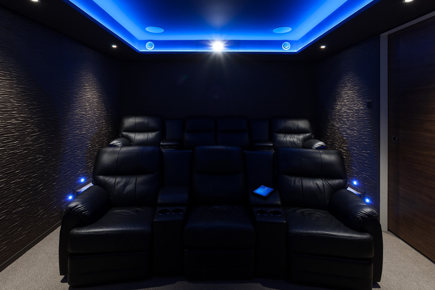 Basement Cinema - Seating and Projector