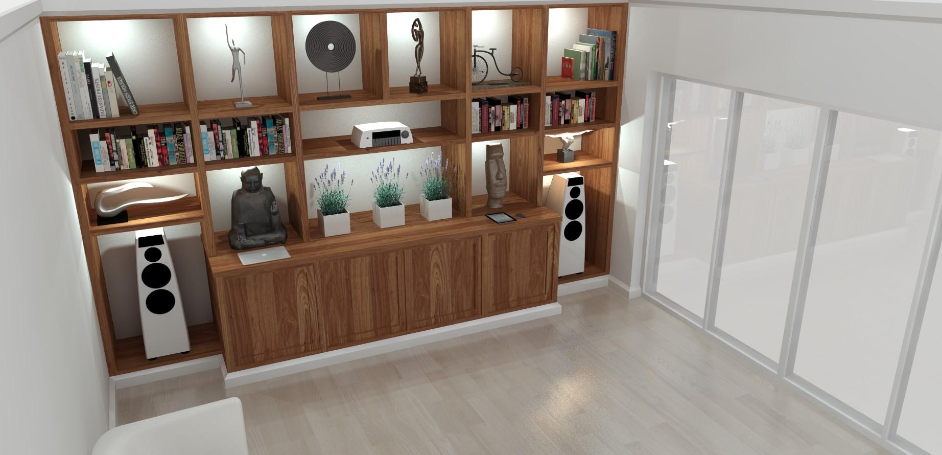 Edwardian Glass House - Library 3D Design
