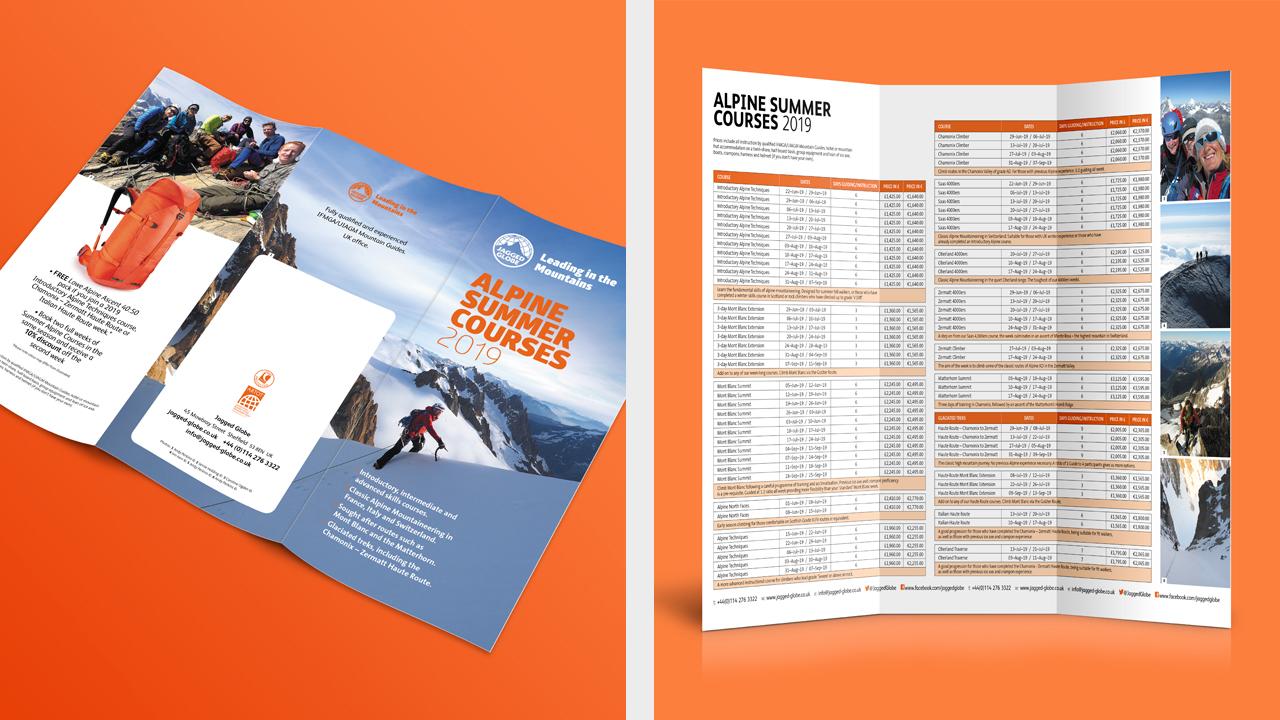 Roll-fold leaflet