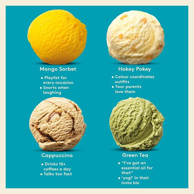 What's your spirit flavour? There's no denying it, we're definitely Mango Sorbet! . . . . . . #foodie #delicious #australia #newzealandnatural #newzealand #dessert #meme #icecream