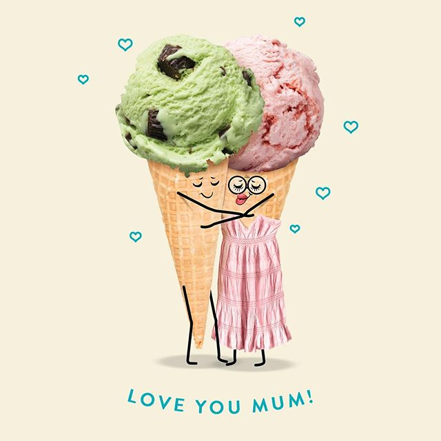 Happy Mother's Day! To all the mums, we love you. To all the kids, treat your mum to her favourite ice cream cos she definitely deserves it 💕