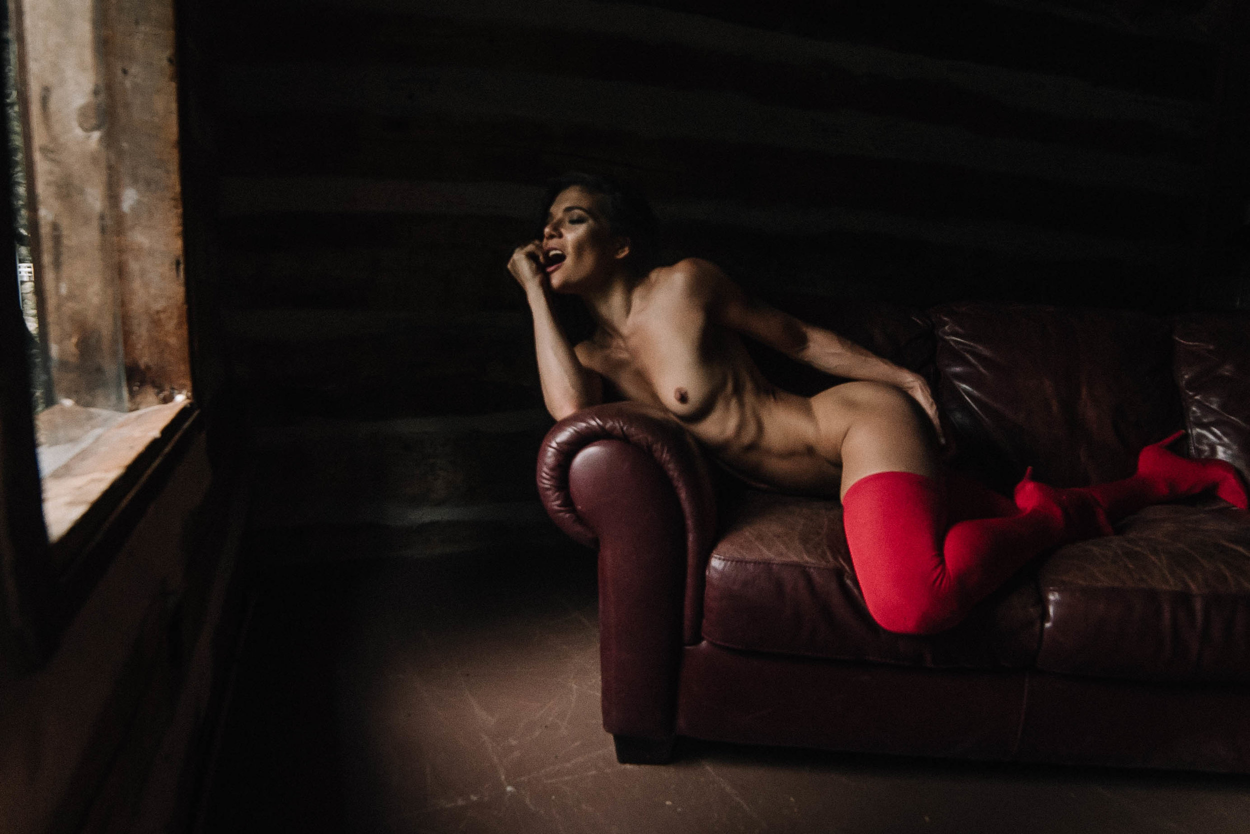 Asheville Boone North Carolina Moody Sultry Erotic Boudoir Photography