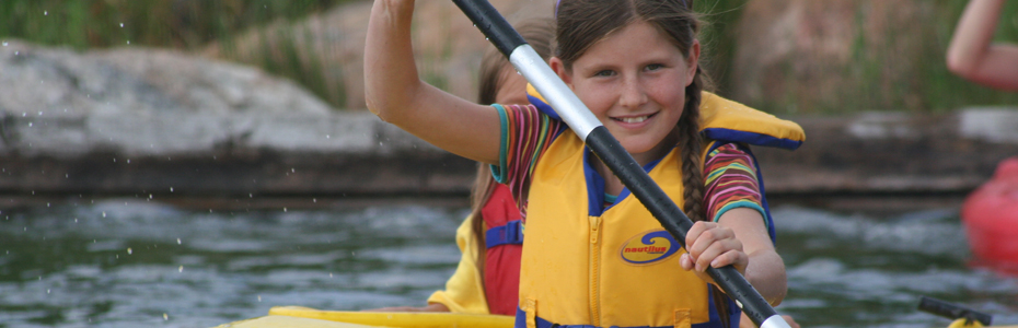 The CDBCC`s Kids Paddle Camp gives kids ages 8 to 14 a safe and fun introduction to the sport of paddling. Click this image to learn more.