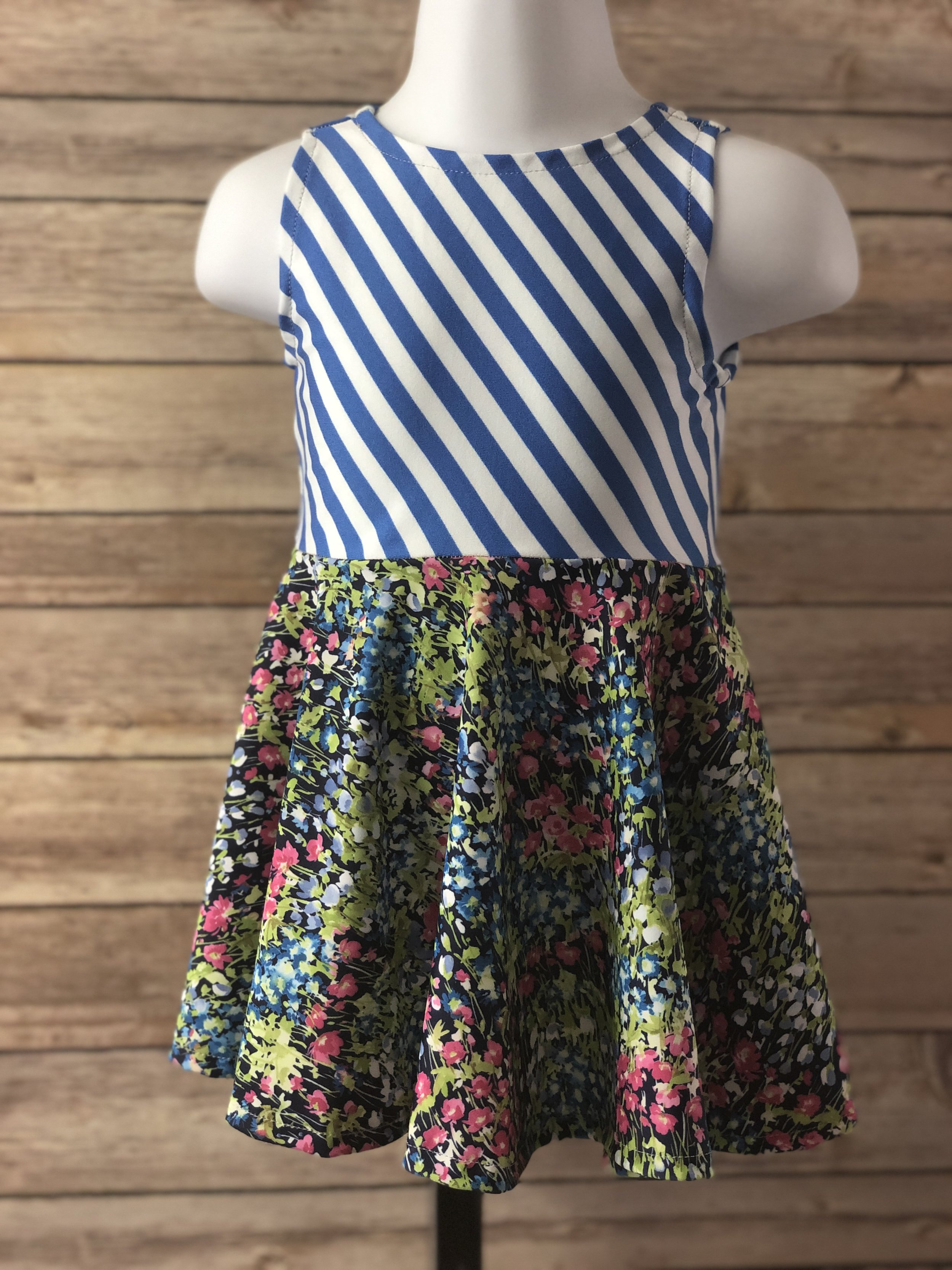 Sophia - Features standard waistline seam and full-circle skirt