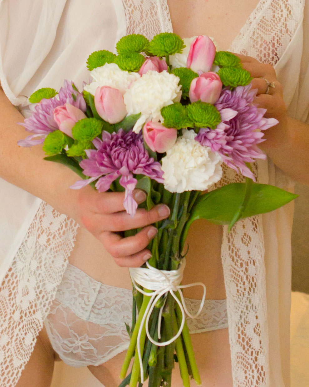 Bridal Boudoir with flowers