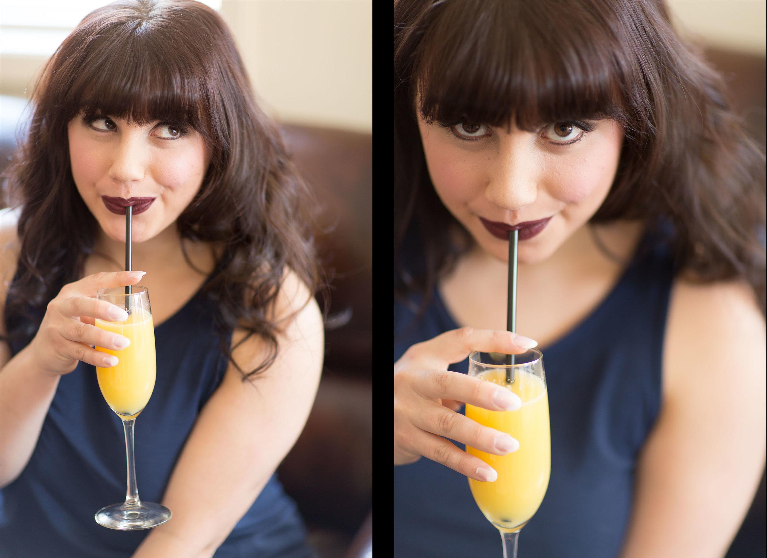 Mimosas before boudoir session