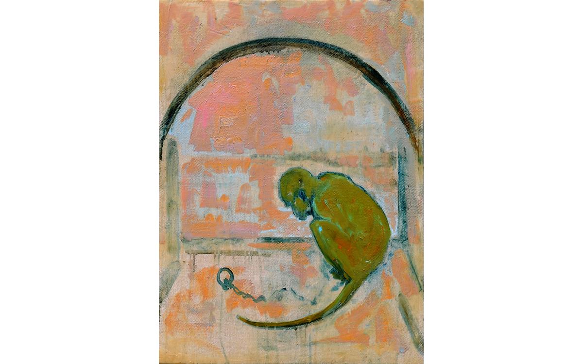 Monkey in Window (after Breugel)