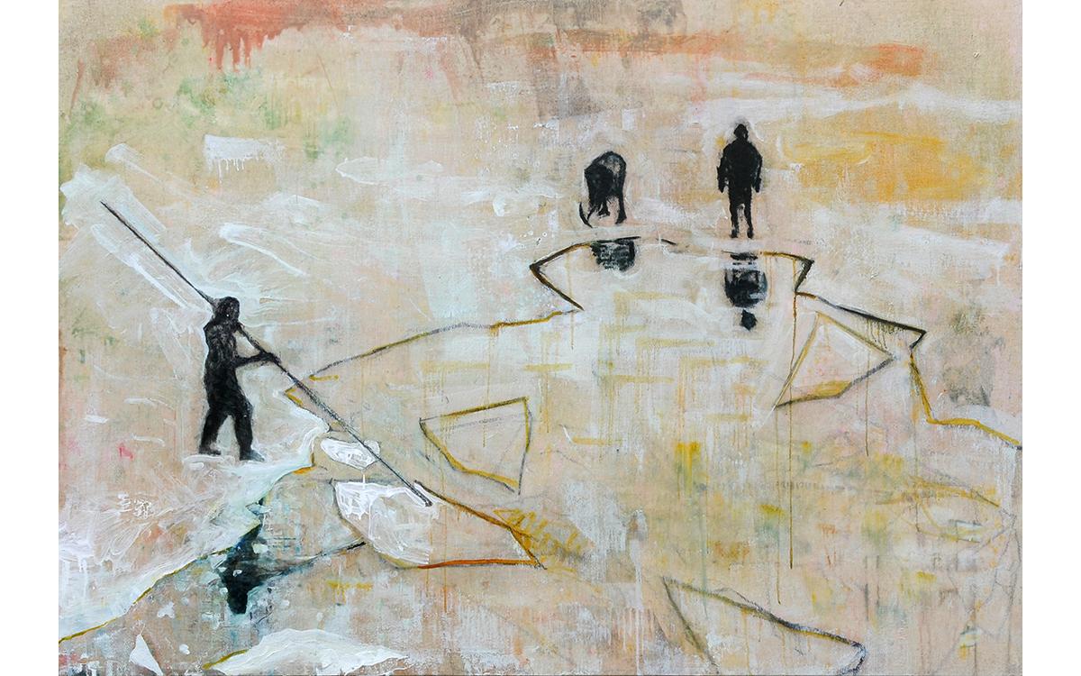Men on Broken Ice Flow