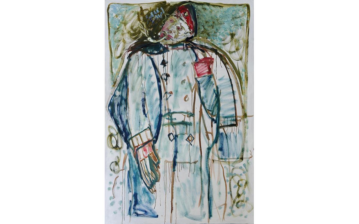soldier smoking (after Larionov)