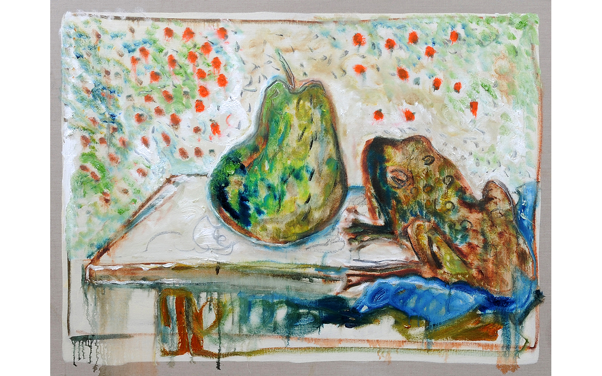 pear and frog (after Larionov)