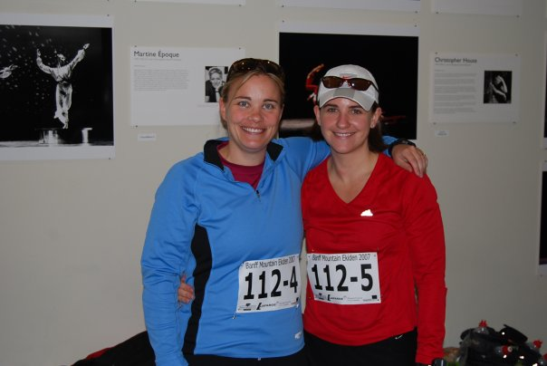 My running buddy Jen and I after the race
