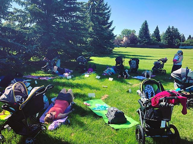 "It was a beautiful morning talking all things pelvic floor and postnatal return to fitness with the Mommy connections group. . I remember those days of motherhood. Trying to navigate what the heck I was doing with the small human, while spending the majority of time alone. So many questions. So many doubts. And with very few friends around with little ones, it was lonely. . I love the idea of Mom & Baby groups like this. It gets you out of the house and connected to moms in the same stage. So you can talk about feeding and diapers and sleep and family and netflix or WHATEVER. Plus you can learn sooo much. From the other moms or from the speakers. . 11 moms and babes in this group, ranging from 5 weeks to 6 months. Only a handful had seen a pelvic floor physio. Some had started to return to exercise, some walking, some wanting to get back at what they were doing prior. We talked about taking it slow. Focusing on rehabbing FIRST then building strength in core and gluts and then slowing adding in more. . It is not a race to get ""your body back"" (spoiler alert - it never went anywhere). It is not a race to get back to your old fitness routine. Slow is fast when it comes to postpartum fitness. . Take the time to heal. Take the time to rehab. Take the time to retrain and build that strength back. . . . #postnatal #postpartum #postnatalfitnessspecialist #pregnancyandpostpartumathleticismcoach #prenatal #prenatalfitness #diastasisrecti #diastasis #urinaryincontinence #pelvicfloor #pelvicfloordysfunction #pelvicorganprolapse #pop #prolapse #strengthformoms #community #yycmoms #yyc #momlife #rest #rehab #recover #retrain #slowisfast #mommyconnectionsyyc #mommyconnectionsyycsouth  #postpartumsupport #yycmomstobe"