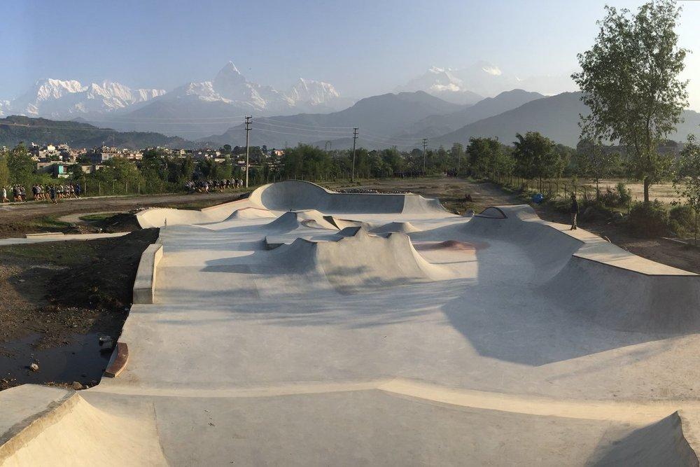 Annapurna skatepark - Pokhara, Nepal