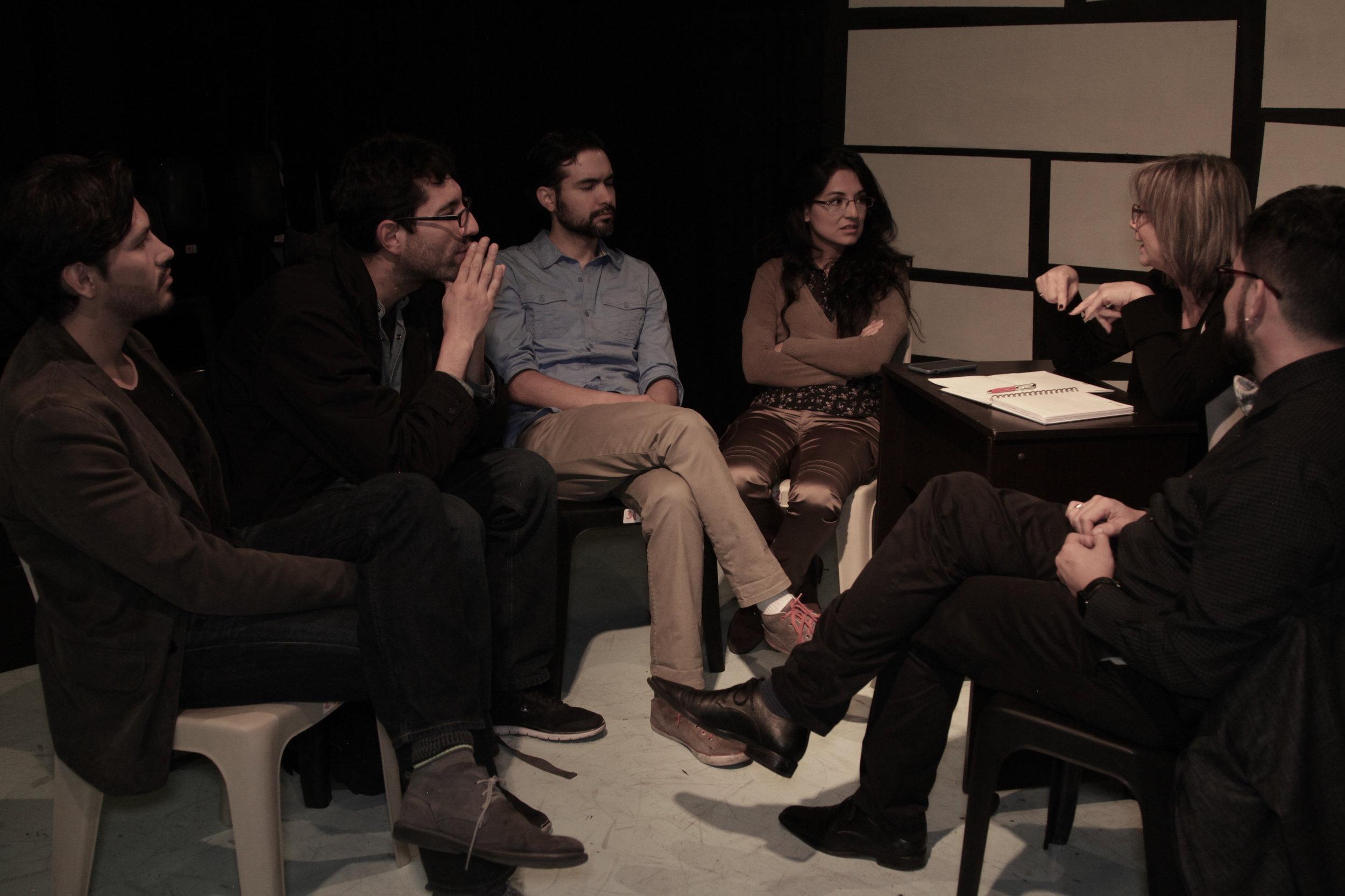 Gonzalo Estupiñán, Diego Coral, Mirian Chicaiza, Leon Sierra,Carlos Páez, y Genoveva Mora