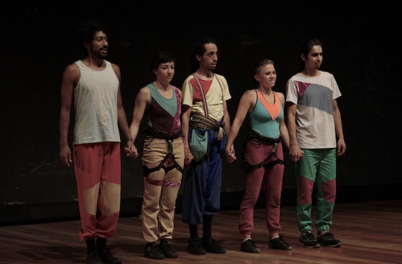 Fidel Minda, Sofia Barriga, Antonio Harris, Camila Hernández y Andre Sebastian. Fotos Silvia Echevarria El Apuntador