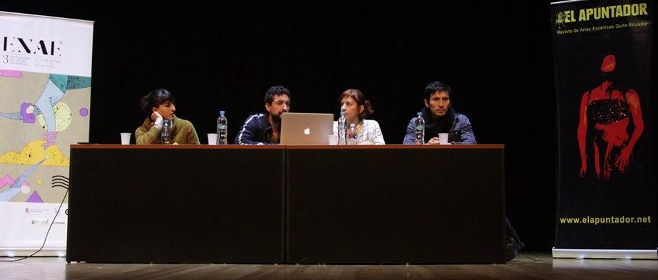 Juliana Zuniga, Jorge Alcolea Darwin Alarcón y Cristina Baquerizo