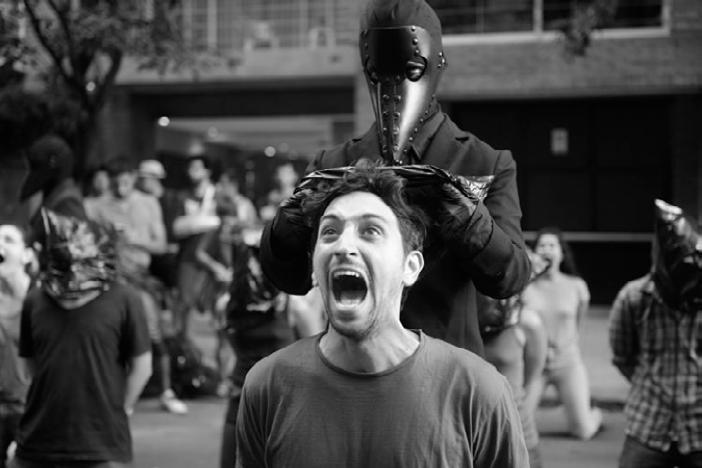 Acción Genocida suelto.  Fotos Marcelo Scoppa.