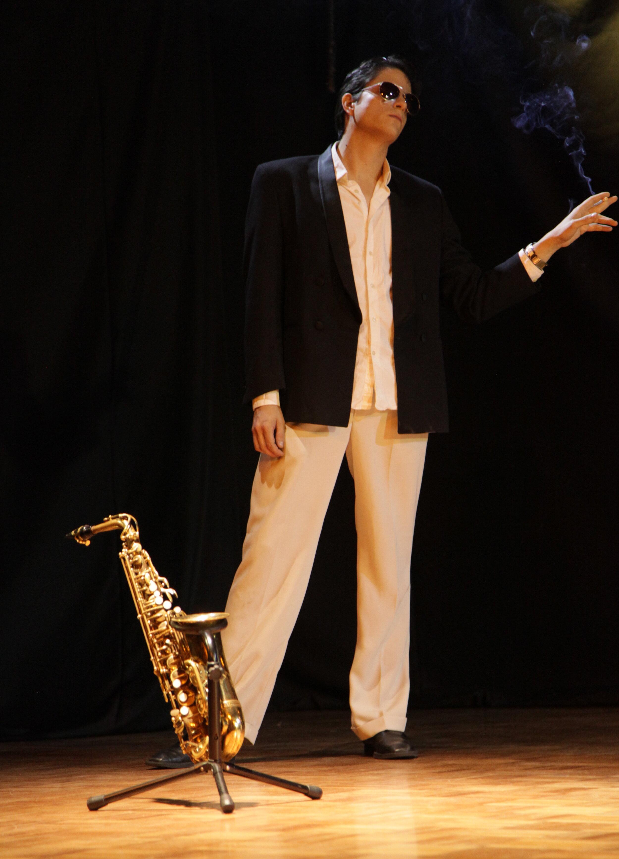 El Saxofonista,  Juan José Franco. Fotos Silvia Echevarría El Apuntador