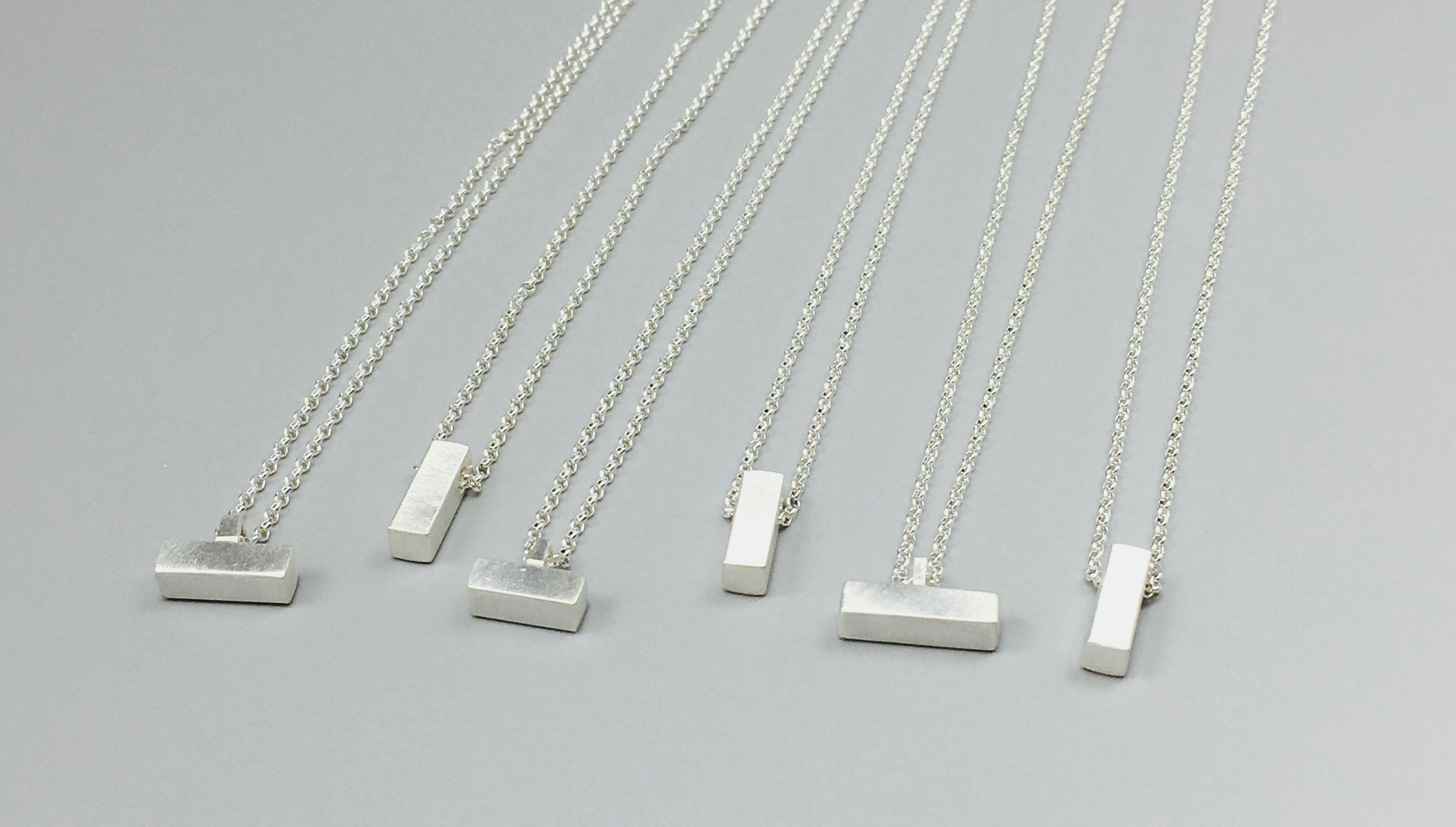 Sterling Silver Rectangle Columns