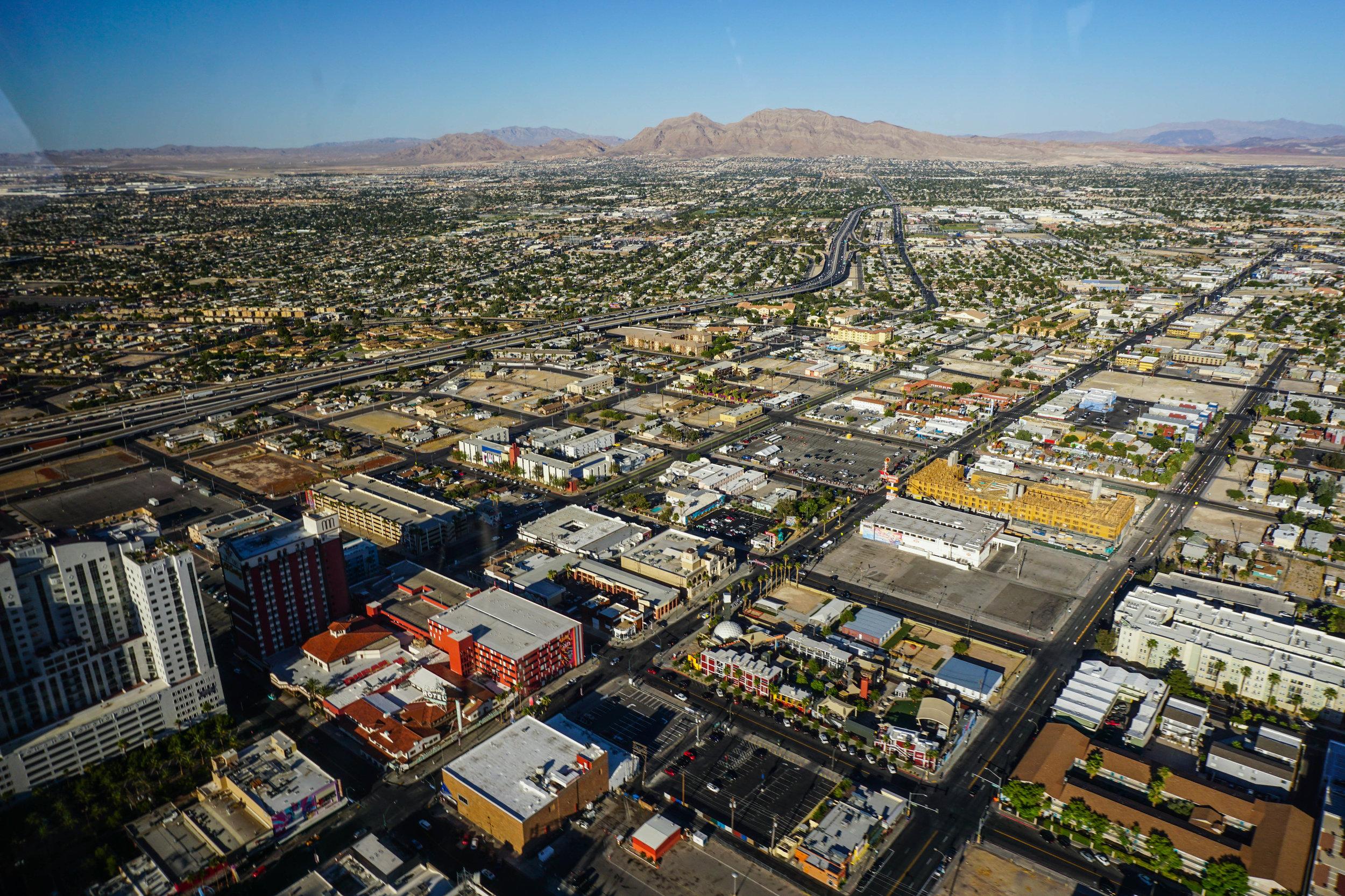 View of vegas suburbs