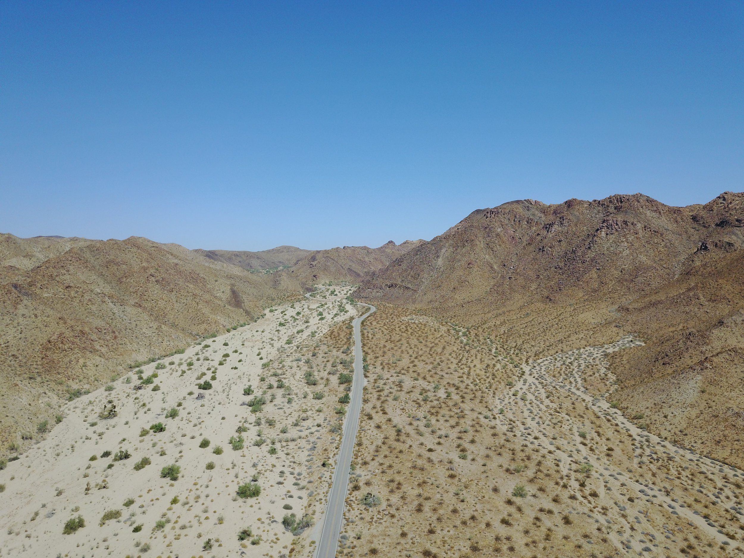 Drone footage of Joshua Tree