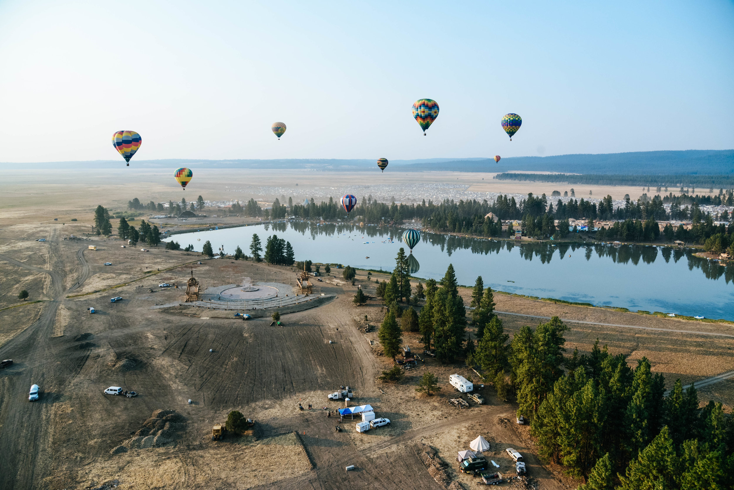 Hot Air Balloons at Oregon Eclipse Festival in Oregon