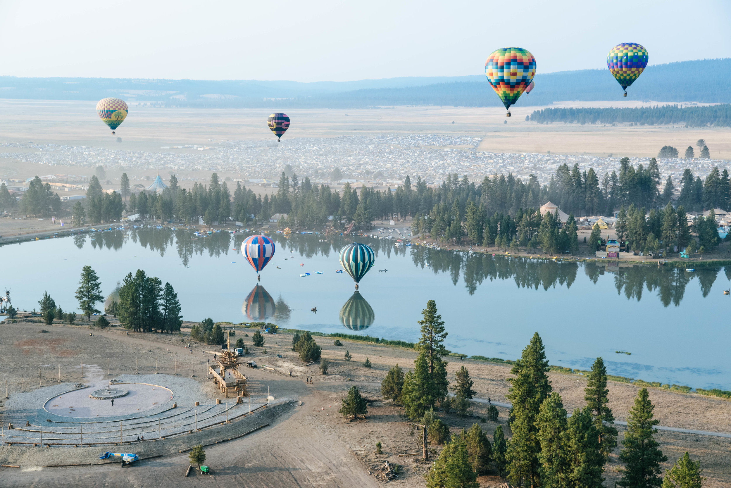 Hot Air Balloons at Oregon Eclipse